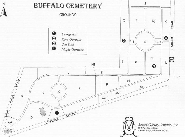 The Schwertfeger Schwert Families Cemetery Maps of the Buffalo