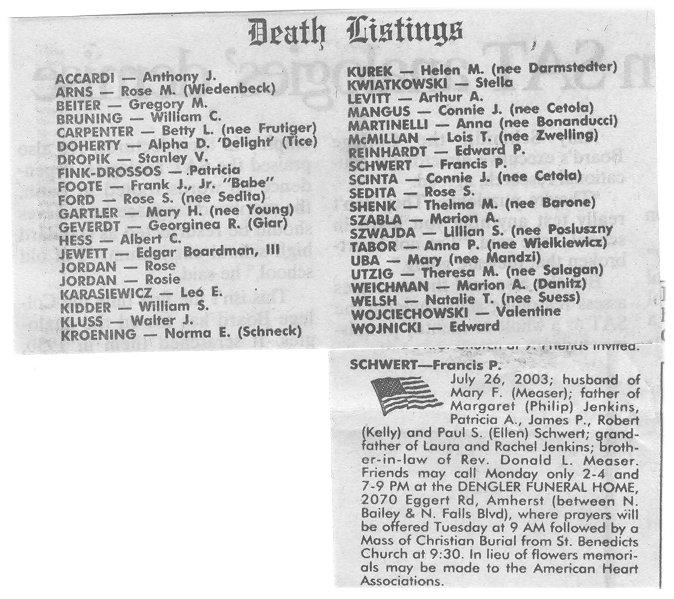 free texas obituaries 1975